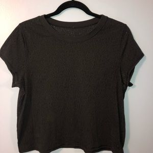 Lululemon cropped tee